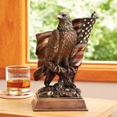 Bald Eagle Tabletop Sculpture  (10 inches high)