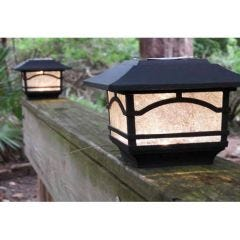 Solar Post Cap Lights (Set of 2)