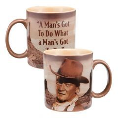 "John Wayne ""A Man's Got To Do"" Ceramic Mug"