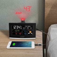 Projection Alarm Clock with AccuWeather Forecast