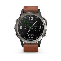 Garmin D2 Delta Watch (Brown Leather Band Band 47mm )