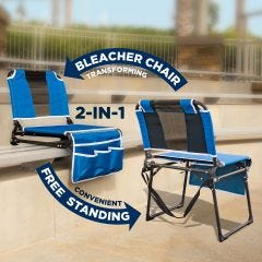 2 in 1 Folding Bleacher Chair