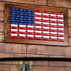 12-Gauge American Flag Wall Art