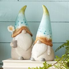 Treasure Gnome Garden Statues (Set of 2)