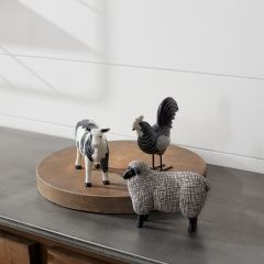 Farm Animals Tabletop Decorations (Set of 3)