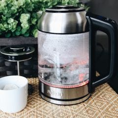 Temperature Control Tea Kettle with Steeper