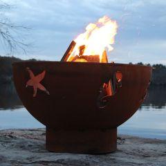 Sea Creatures Designer Fire Pit