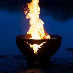 Long Horn Designer Fire Pit