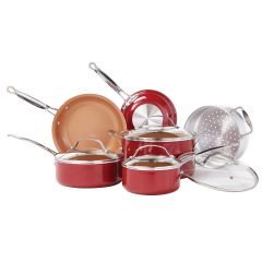 Red Copper™ 10 pc. Cookware Set