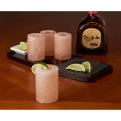 Himalayan Salt Tequila Shot Glasses with Tray