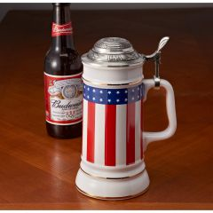 Stars and Stripes Pewter Stein