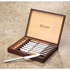 Eight-Piece Steak Knife Set in Rosewood Box