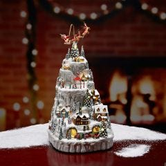 Snowy Christmas Village Mountain