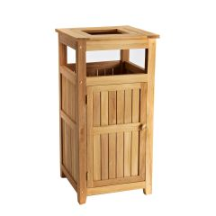 Deluxe Teak Laundry/Towel Hamper