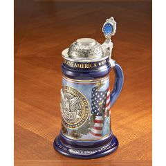 USA Pewter Stein