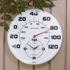 Giant Outdoor Thermometer Clock