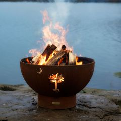 Tropical Moon Designer Fire Pit
