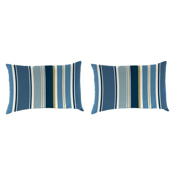 Polyester Lumbar Pillows 18 X12 Set Of 2