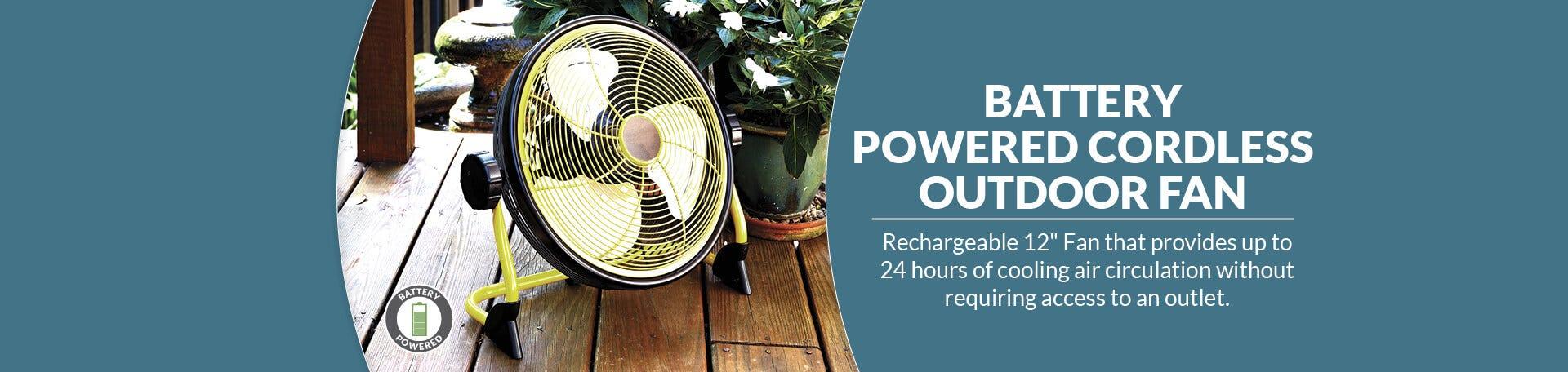 Battery Powered Fan