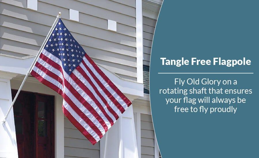 Tangle Free Flagpole